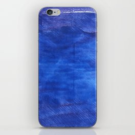 Cerulean blue abstract watercolor iPhone Skin