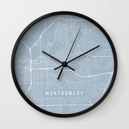 Montgomery Map, USA - Slate Wall Clock