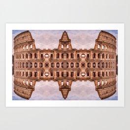 Mirror Coliseum I Art Print