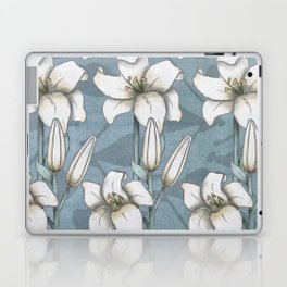 white lily pattern Laptop & iPad Skin