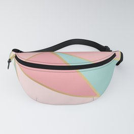 Rose Gold / Blue Triangles Fanny Pack