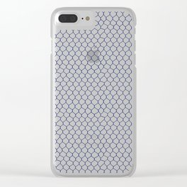 Chicken Wire Navy Clear iPhone Case