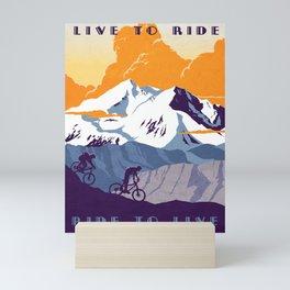 live to ride, ride to live retro cycling poster Mini Art Print