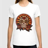 mexican T-shirts featuring Mexican skull by Elisa Gandolfo