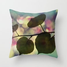 Kiwi leaves Throw Pillow