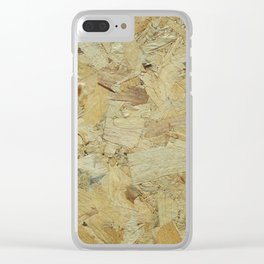 wood background texture Clear iPhone Case
