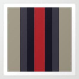 High Fashion Designer Style Stripes Art Print