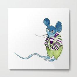 shy mouse Metal Print