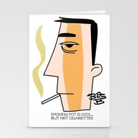 cigarettes Stationery Cards featuring Cigarettes by Brian Sisson