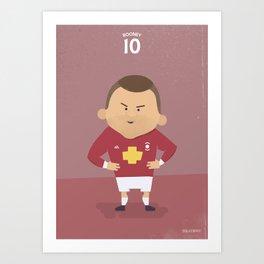 The Tens   Wayne Rooney Art Print