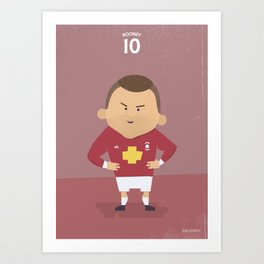 The Tens | Wayne Rooney Art Print