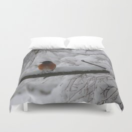 Surpised by the snow Duvet Cover