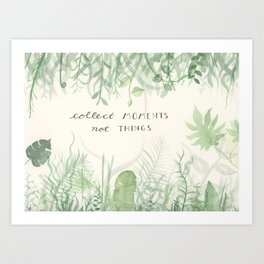 Collect Moments foliage watercolor Art Print