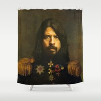 dave grohl Shower Curtains featuring Dave Grohl - replaceface by replaceface