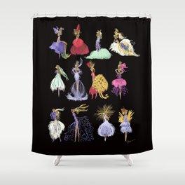 Thumbelina Dresses! Shower Curtain