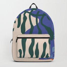 Greek vase with fern Backpack