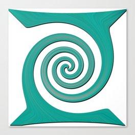 Green Spiral Canvas Print