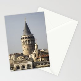 Galata Tower, A historical place in Istanbul Turkey Stationery Cards