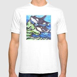 Killer Whales Sealife underwater T-shirt