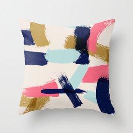 Bohemian tribal brush stroke Throw Pillow
