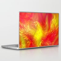 phoenix Laptop & iPad Skins featuring Phoenix by Paula Belle Flores