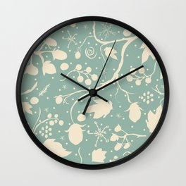 Seamless Pattern with berries Wall Clock