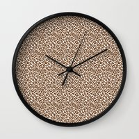 leopard Wall Clocks featuring Leopard by Zen and Chic