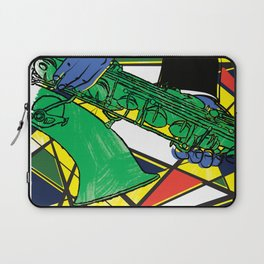 The Sax Player Laptop Sleeve