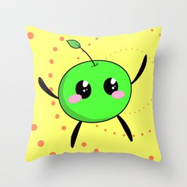 Happy Junimo Throw Pillow