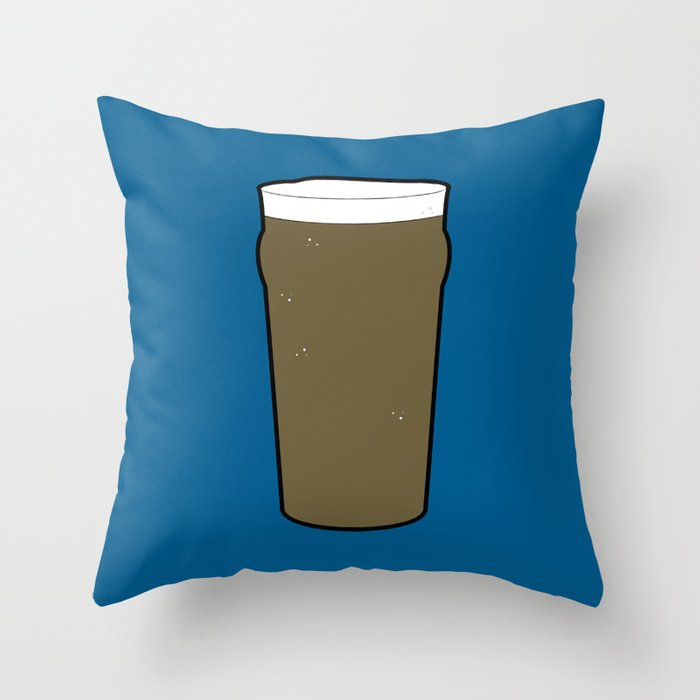 Beer Glasses (Pint) Throw Pillow