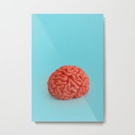 Use Your Brain Metal Print