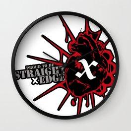 Strage Edge Heart Wall Clock