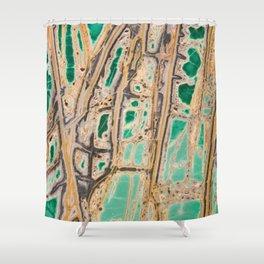 Variscite Mineral Shower Curtain