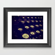 Maquina de palabras ( Machine words ) Framed Art Print
