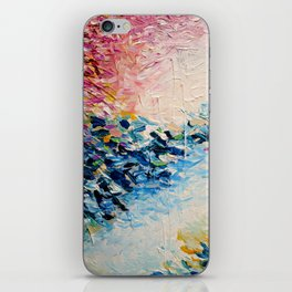 PARADISE DREAMING Colorful Pastel Abstract Art Painting Textural Pink Blue Tropical Brushstrokes iPhone Skin