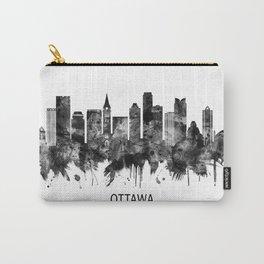 Ottawa Canada Skyline BW Carry-All Pouch