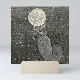 AROUND THE MOON - EMILE-ANTOINE BAYARD Mini Art Print
