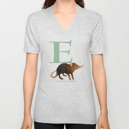 E is for Elephant Shrew: Under Appreciated Animals™, unusual creatures ABC nursery decor for kids Unisex V-Neck