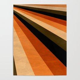 Autumn Stripes Poster