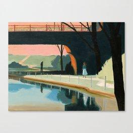 the border Canvas Print