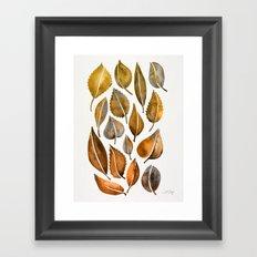 Rusty Leaves Framed Art Print