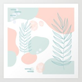 Pastel Pop in Seafoam Art Print