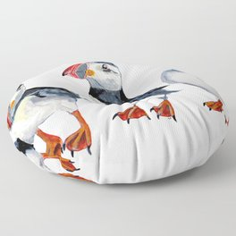 puffins Floor Pillow