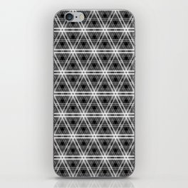 Black and White Egyption Triangle Pyramid Check iPhone Skin