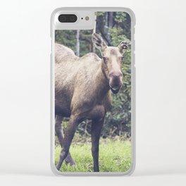 Smiling Moose, Delta Junction Alaska Clear iPhone Case