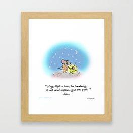 Yogi Firefly and Mouse Framed Art Print