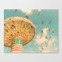 glee Canvas Prints featuring Glee by Suzanne Harford