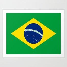 Flag of Brazil-Brazil, flag, flag of brazil, brazilian,Rio, Sao Paulo, Rio de Janiero, carnival Art Print