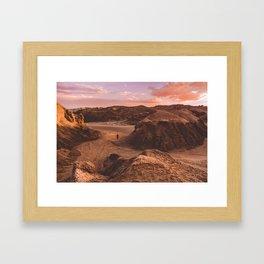 Sunset in Valle De La Luna, Chile Framed Art Print