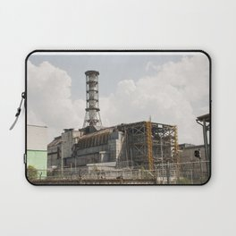 """Chernobyl nuclear power plant. Fourth block, now the object """"Shelter"""" (Sarcophagus). Laptop Sleeve"""